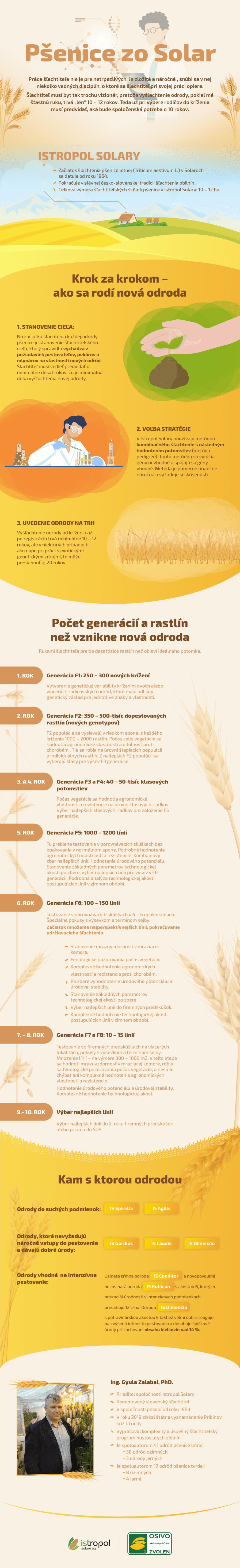 Infografika: Život pšenice zošľachtiteľskej stanice Istropol Solary